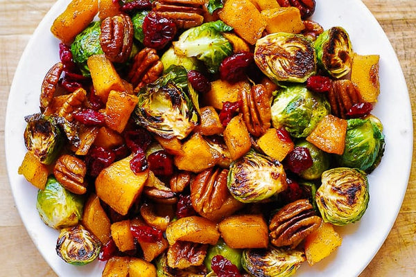 Brussel Sprout and butternut squash Side Dish Thanksgiving Fun Unique different