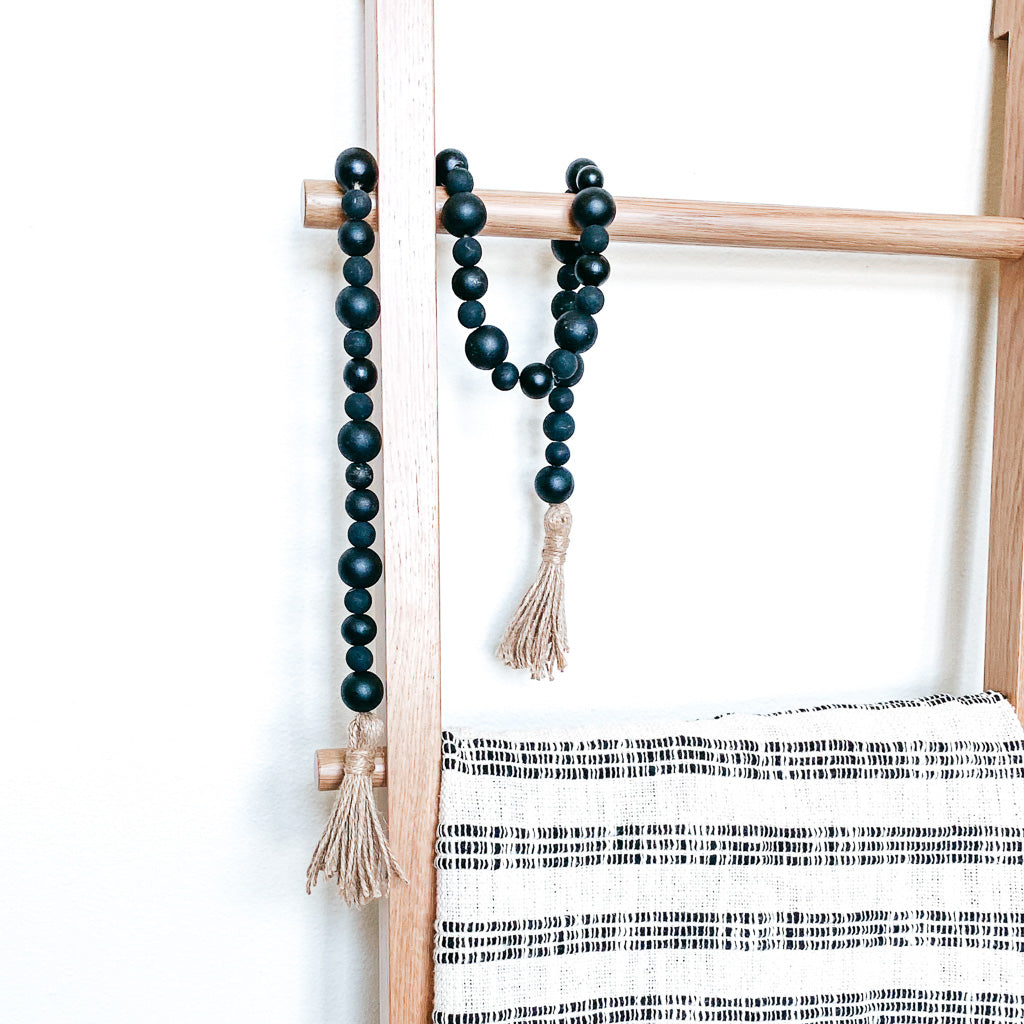 Knox Rustic Black Bead Garland Rebel Villa