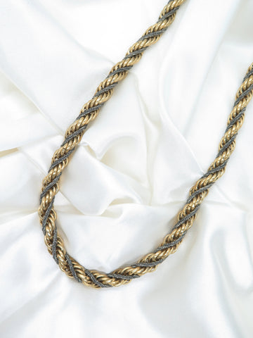 Vintage Gold Silver Twist Chain Necklace