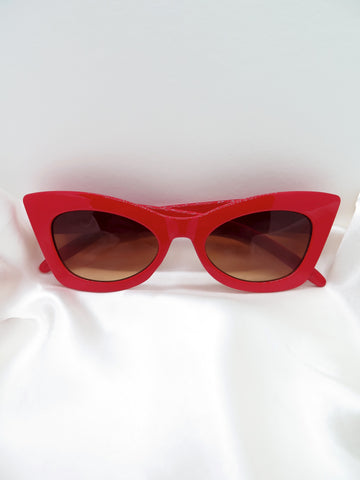 Red Cat Eye Sunglasses