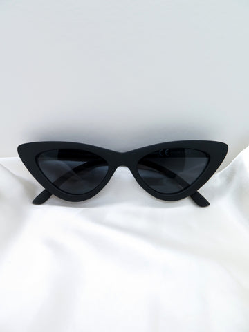 Black Matte Feline Sunglasses