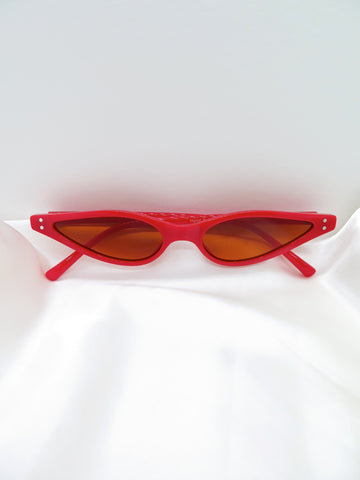 Red Slim Sunglasses