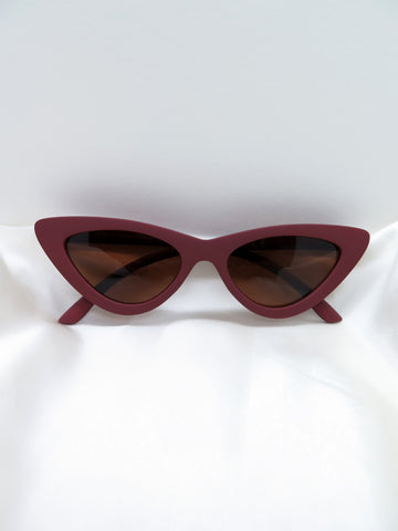 Purple Matte Feline Sunglasses