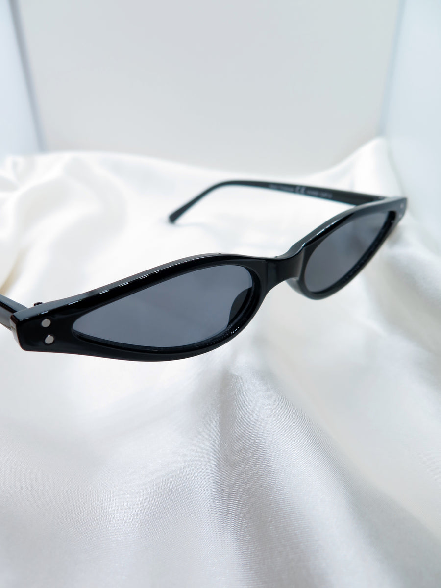 Black Slim Sunglasses