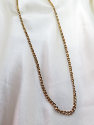 Vintage Gold Tone Long Chain Necklace