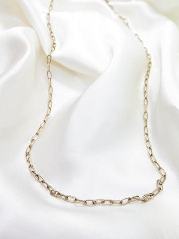 Vintage Gold Tone Chain Necklace