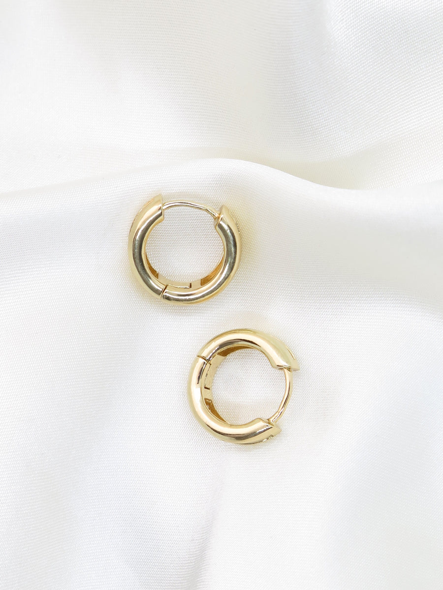 Gold Plated Small Hoop Earrings