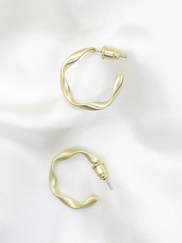 Gold Plated Twist Hoop Earrings