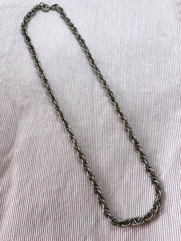90s Silver-Tone Chunky Chain Necklace