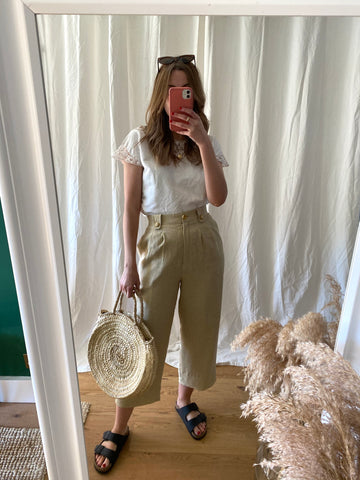 90s Beige Trousers - S