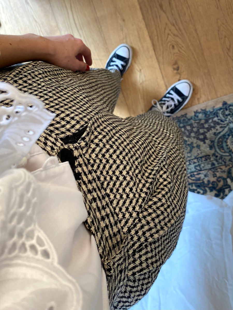 90s Houndstooth Trousers - S