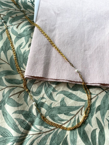 80s Double Layer Gold-Tone Chain Necklace