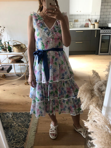 Vintage Betty Barclay Cotton Floral Dress