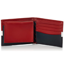 Load image into Gallery viewer, Men's Tommy Hilfiger Tri Color Matte Leather Bifold RFID Protection Wallet