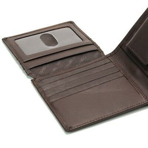 Calvin Klein Men's Brown Leather Coin Pocket Wallet Billfold Key Fob CK 79349