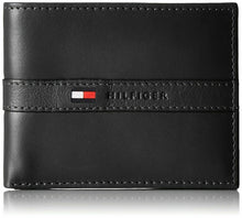 Load image into Gallery viewer, Tommy Hilfiger Leather Credit Card Wallet Ranger Bifold 31TL22X062 Black