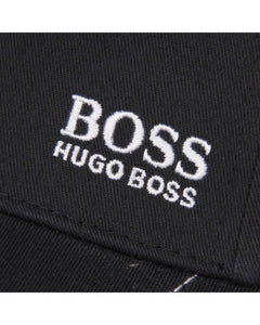 Hugo Boss Black Embroidered Logo Adjustable Strap Cotton Twill Baseball Cap Hat