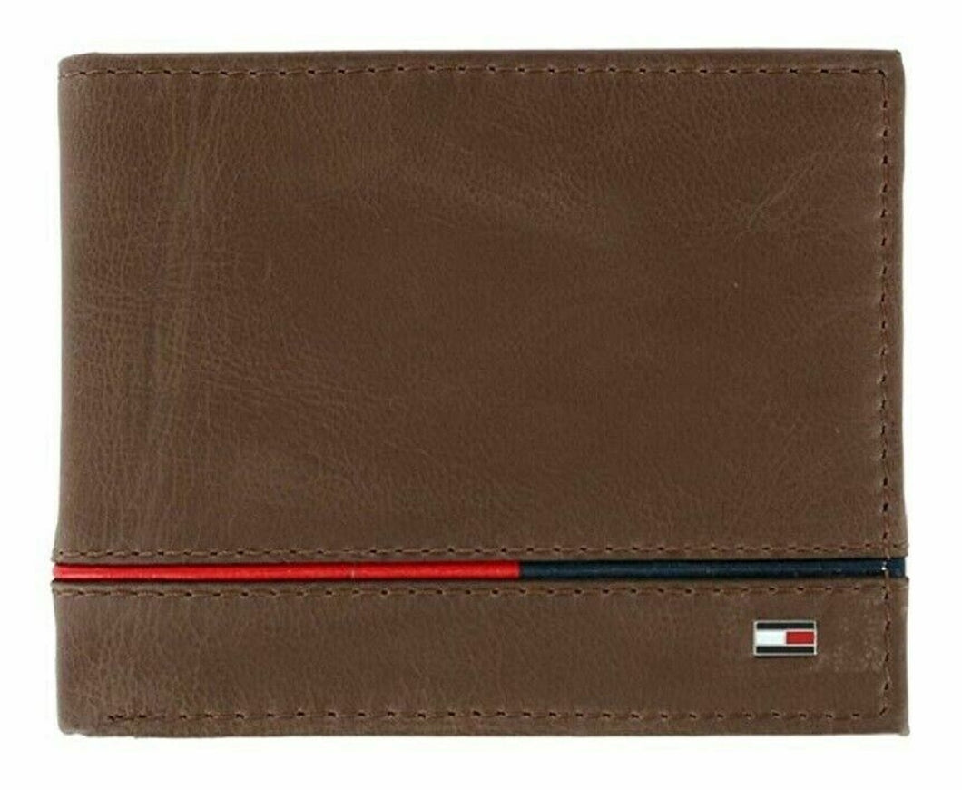Tommy Hilfiger Genuine Leather Bifold Trim Accent 6 Card Slot Bifold Wallet