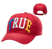 Load image into Gallery viewer, True Religion Red Embroidered 3D Rainbow Cap Sport Strapback Baseball Hat