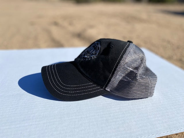 BHF Washed Trucker Cap - Black/Charcoal