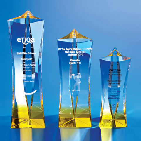 Crystal Trophy | C600 A/B/C - D One Crystal Award Trophy Malaysia