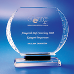 Crystal Plaque | C615 - D One Crystal Award Trophy Malaysia