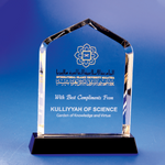 Crystal Plaque | C616 - D One Crystal Award Trophy Malaysia