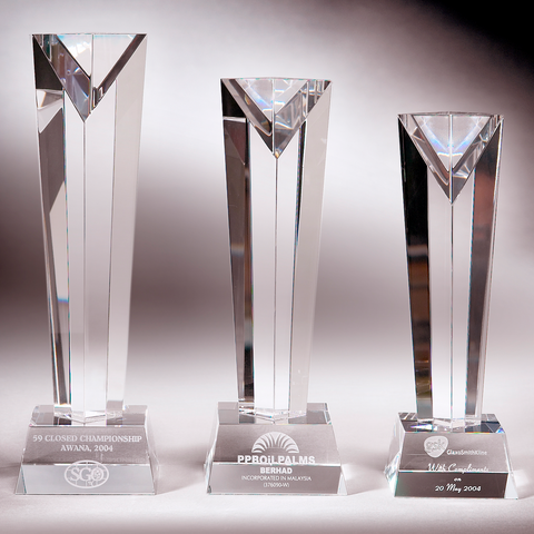 Crystal Trophy | C704 A/B/C - D One Crystal Award Trophy Malaysia