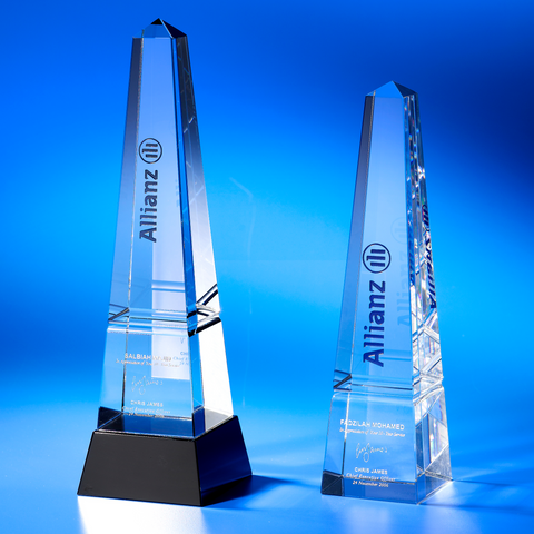 Crystal Trophy | C801 A/B - D One Crystal Award Trophy Malaysia