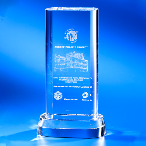 Crystal Plaque | C805 - D One Crystal Award Trophy Malaysia