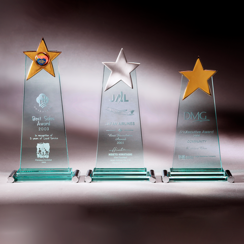 Glass Series | CA381 A/B/C - D One Crystal Award Trophy Malaysia