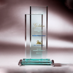 Glass Series | CA388 - D One Crystal Award Trophy Malaysia
