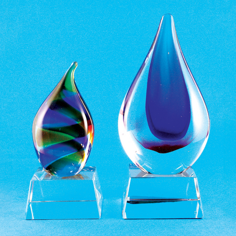 Color Crystal | CC-014 A/B - D One Crystal Award Trophy Malaysia