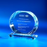 Crystal Plaque | CL-38 - D One Crystal Award Trophy Malaysia