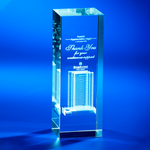 Crystal Trophy | CL-40 - D One Crystal Award Trophy Malaysia