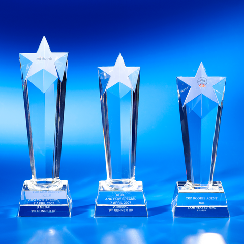 Star Award | CS903 A/B/C - D One Crystal Award Trophy Malaysia