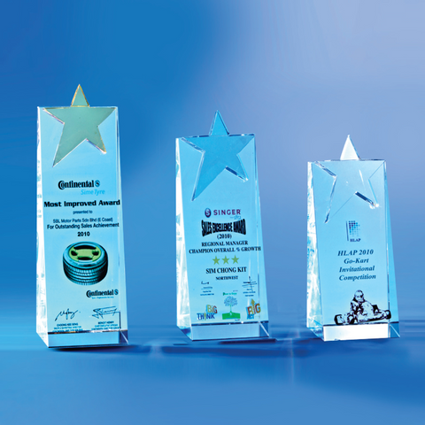 Star Award | CS913 A/B/C - D One Crystal Award Trophy Malaysia
