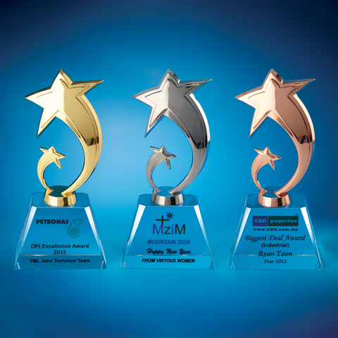 Star Award | CS922 A/B/C - D One Crystal Award Trophy Malaysia