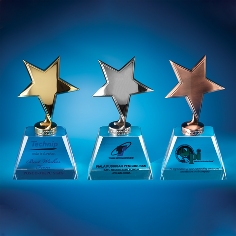 Star Award | CS923 A/B/C - D One Crystal Award Trophy Malaysia