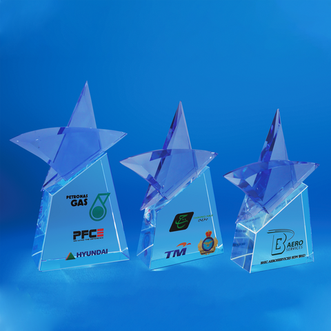 Star Award | CS930 A/B/C - D One Crystal Award Trophy Malaysia