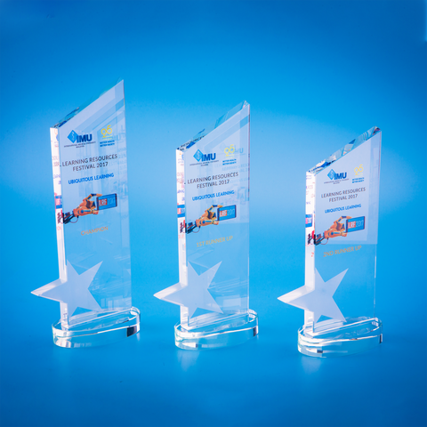 Star Award | CS932 - D One Crystal Award Trophy Malaysia
