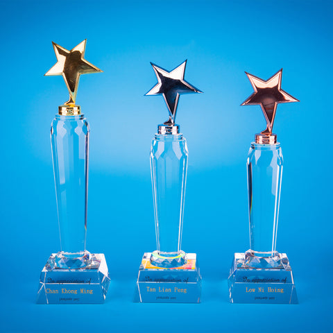 Star Award | CS933 A/B/C - D One Crystal Award Trophy Malaysia