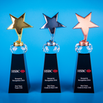 Star Award | CS934 A/B/C - D One Crystal Award Trophy Malaysia