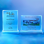 Crystal Plaque | D1013 A/B - D One Crystal Award Trophy Malaysia