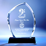Crystal Plaque | D2007 - D One Crystal Award Trophy Malaysia