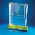 Crystal Plaque | D3028 - D One Crystal Award Trophy Malaysia