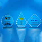 Crystal Plaque | D3037 A/B/C - D One Crystal Award Trophy Malaysia