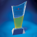 Crystal Trophy | D4003 - D One Crystal Award Trophy Malaysia