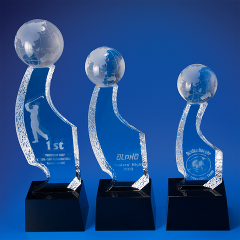 Crystal Trophy | D4006 A/B/C - D One Crystal Award Trophy Malaysia