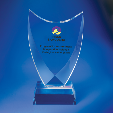 Crystal Plaque | D4014 - D One Crystal Award Trophy Malaysia